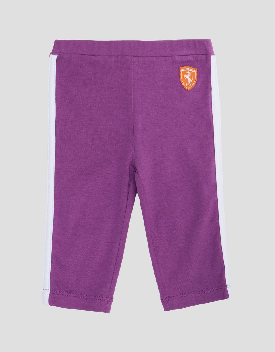 Scuderia Ferrari Online Store - Scuderia Ferrari infant's leggings in jersey - Tights & Yoga Pants