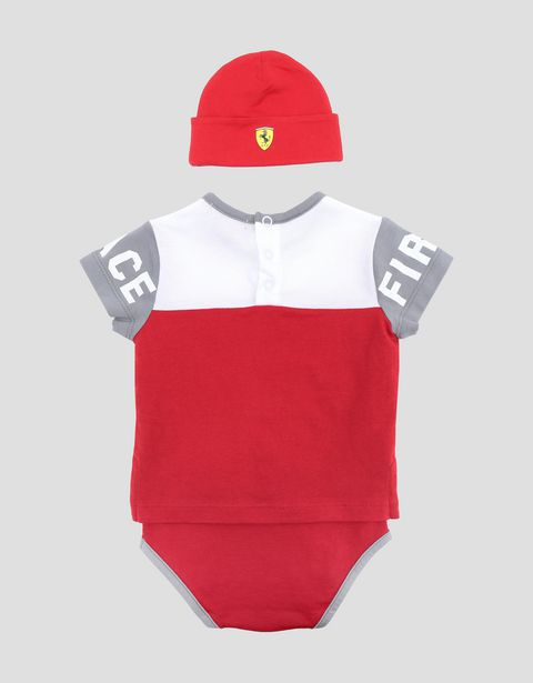 Infant Scuderia Ferrari bodysuit and hat set