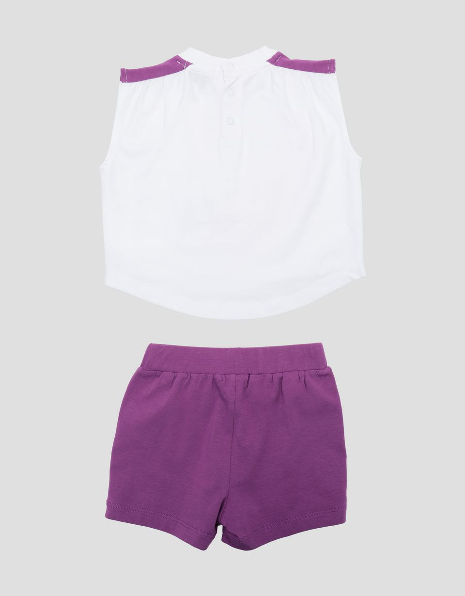 Scuderia Ferrari Online Store - Scuderia Ferrari infant's vest and shorts for girls - Baby & Kids Sets