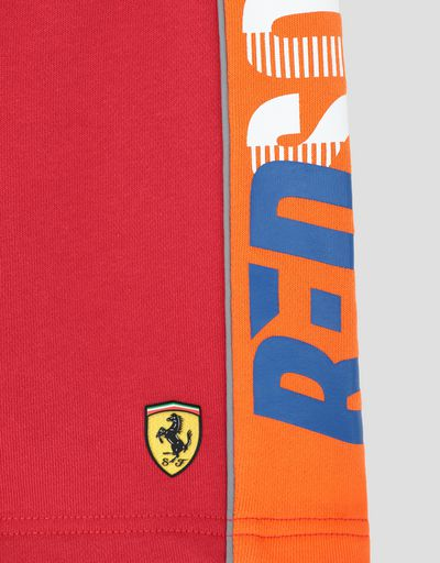 Scuderia Ferrari Online Store - Shorts bambino in French Terry con scritta RED SOUL - Shorts
