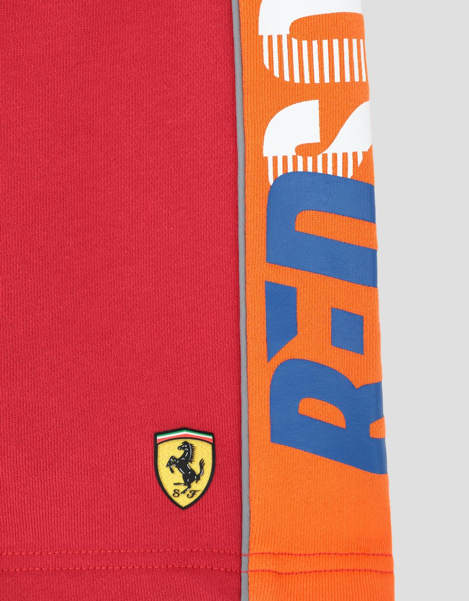 Scuderia Ferrari Online Store - Children's French terry shorts with RED SOUL wording -