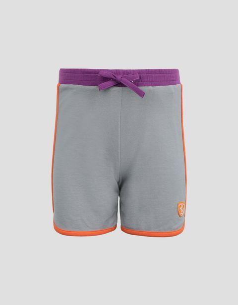 Little girl's shorts in jersey with contrasting piping