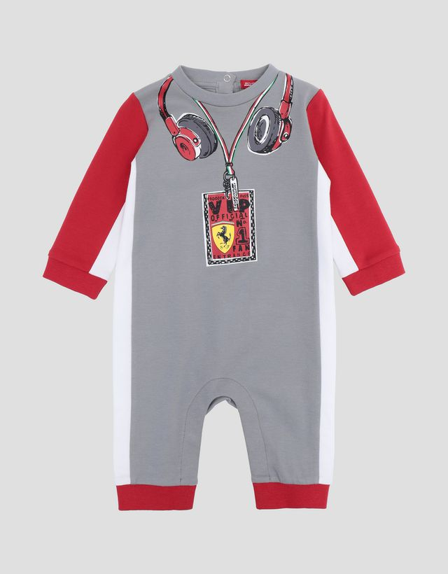 46576efb2411 Scuderia Ferrari Online Store - Infant cotton interlock driver bodysuit -  Jumpsuits ...