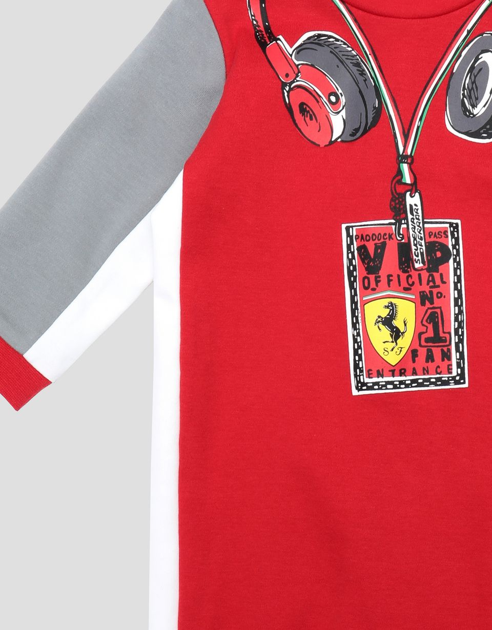 Scuderia Ferrari Online Store - Infant's racing suit for boys in Interlock cotton -