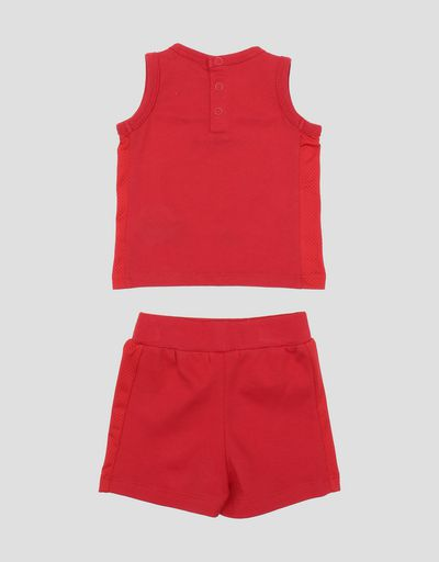 Scuderia Ferrari Online Store - Infant's cotton shorts and vest outfit - Baby & Kids Sets