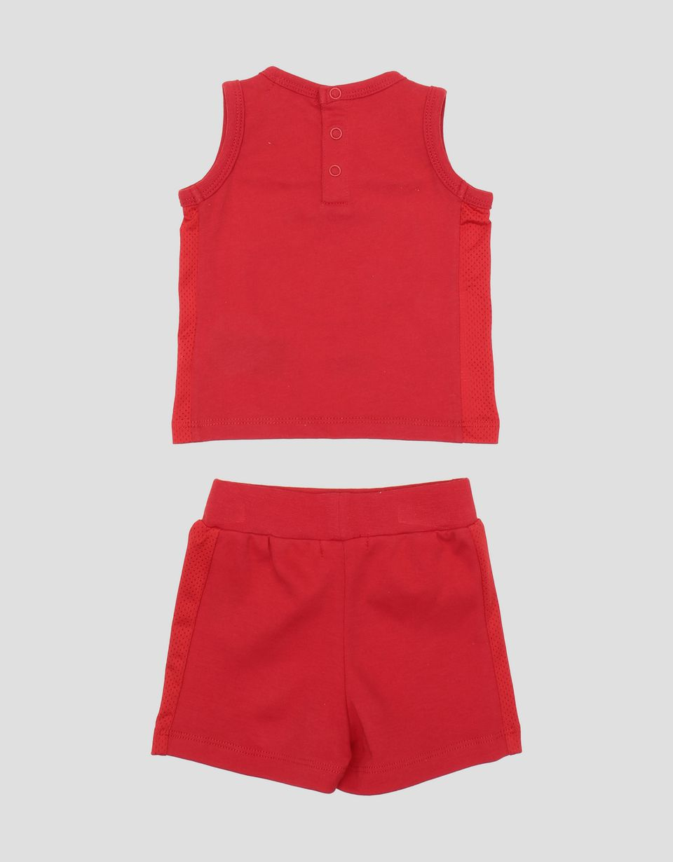Scuderia Ferrari Online Store - Infant cotton tank top and shorts set - Baby & Kids Sets