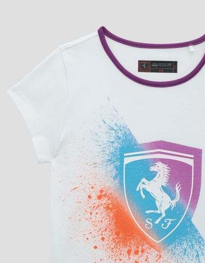 Scuderia Ferrari Online Store - Girls' colorful Ferrari Shield dress - Short Dresses