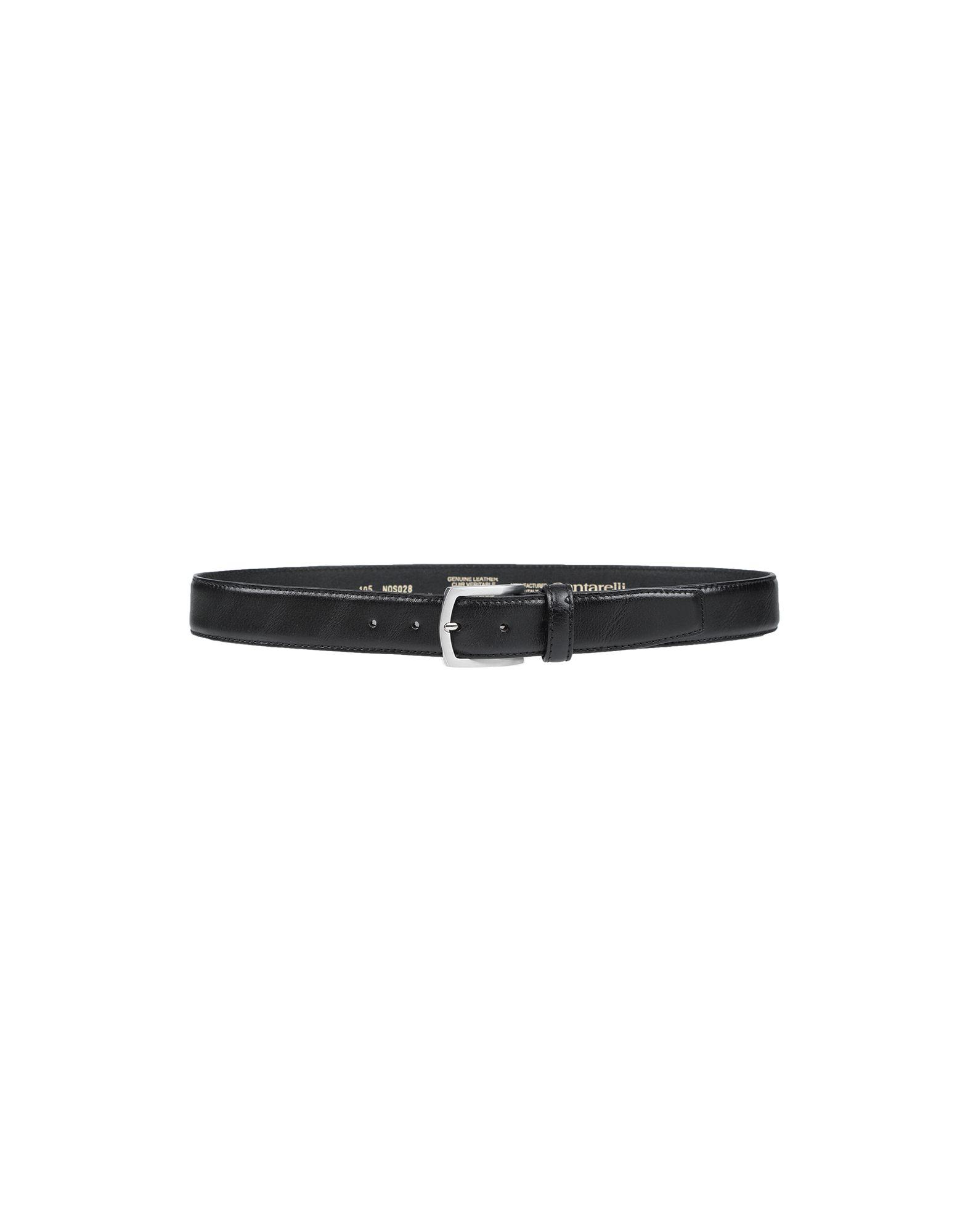 《セール開催中》CANTARELLI メンズ ベルト ブラック 95 革