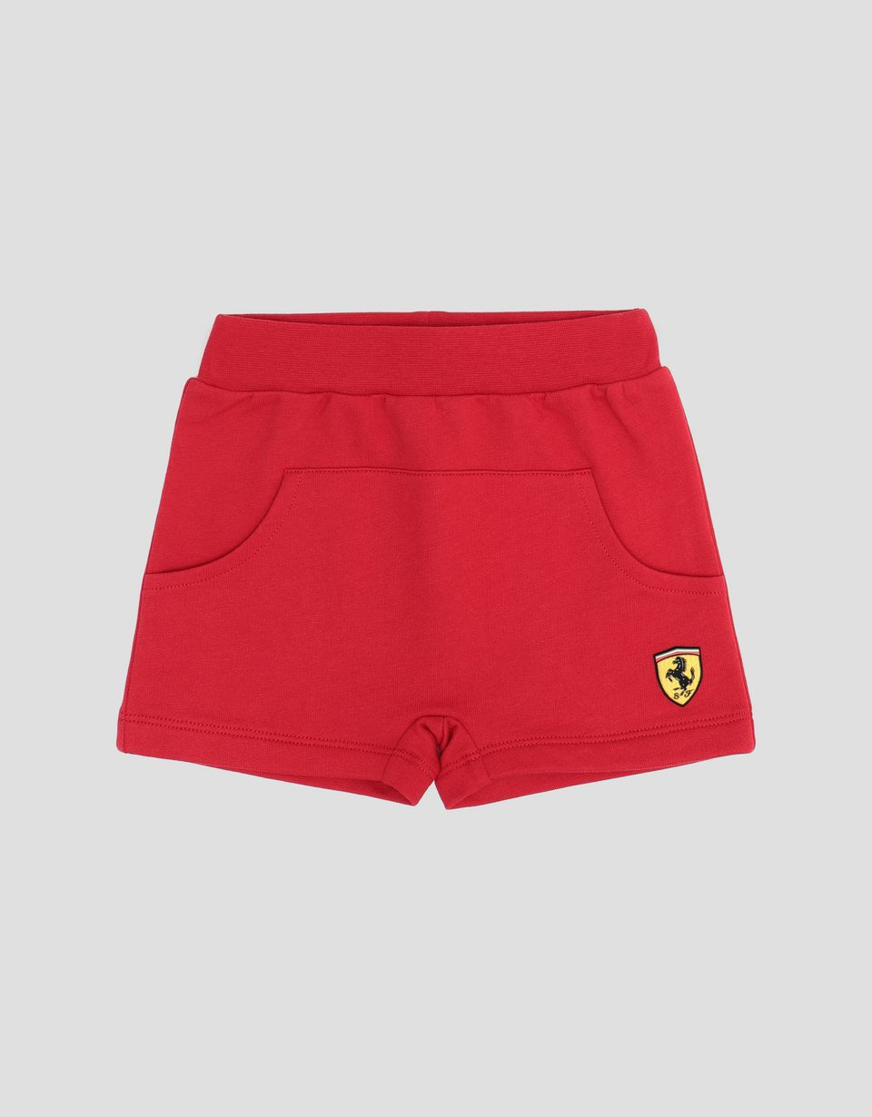 Scuderia Ferrari Online Store - Infant's shorts in French Terry - Shorts