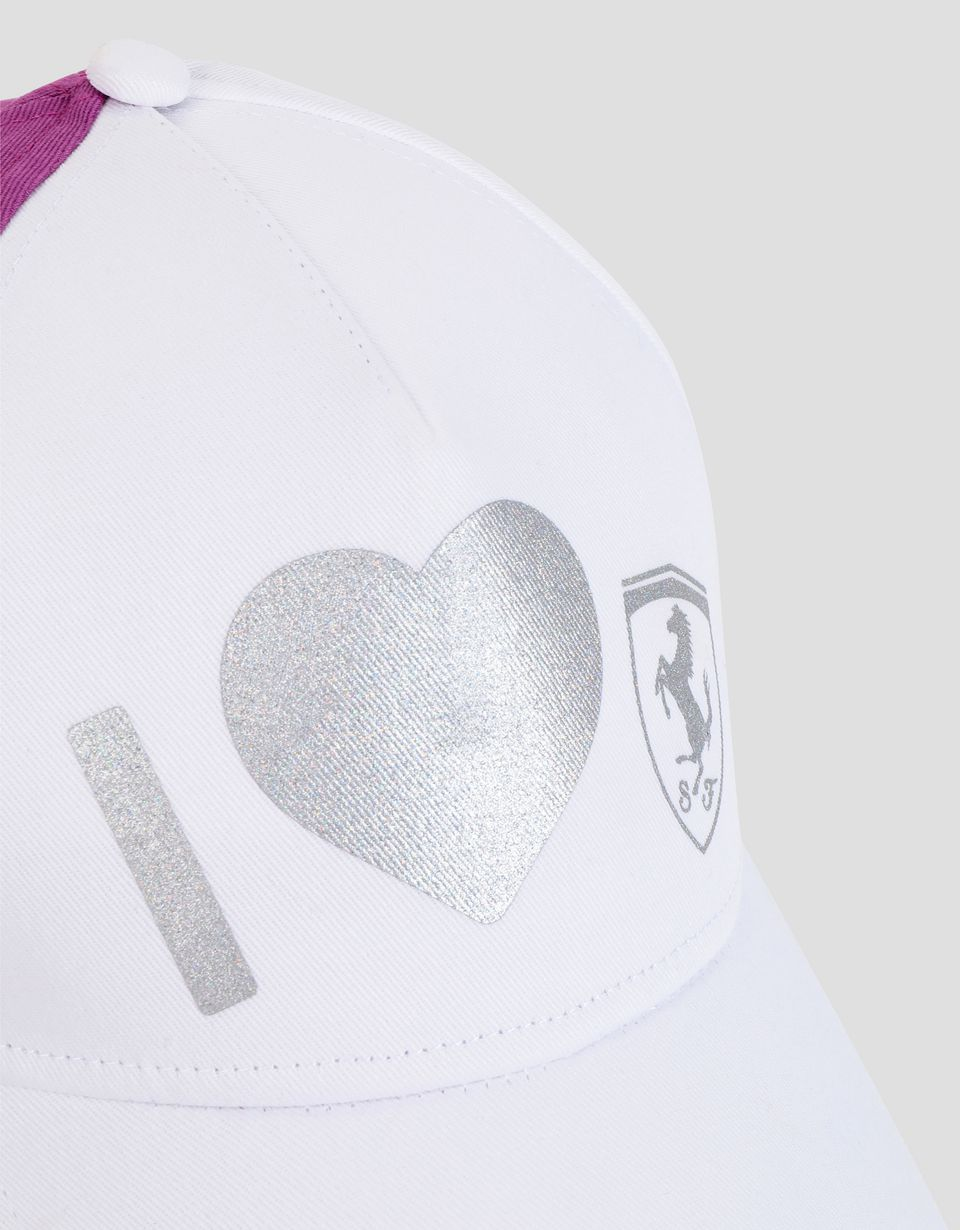 Scuderia Ferrari Online Store - Little girl's hat with glitter print - Baseball Caps