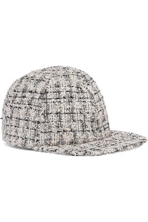 Eugenia Kim  EUGENIA KIM WOMAN DARIEN BOUCLÉ-TWEED BASEBALL CAP MULTICOLOR