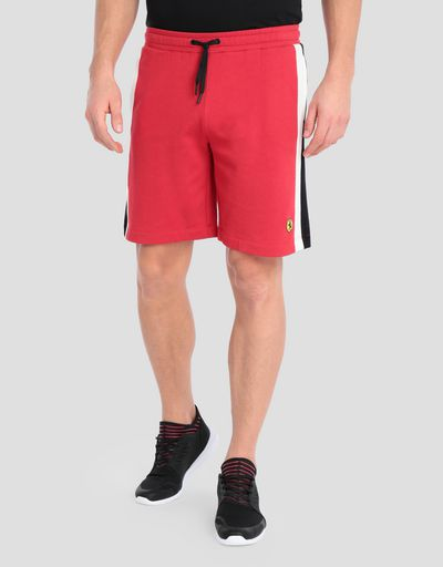 Men's bermudas with contrasting side stripes