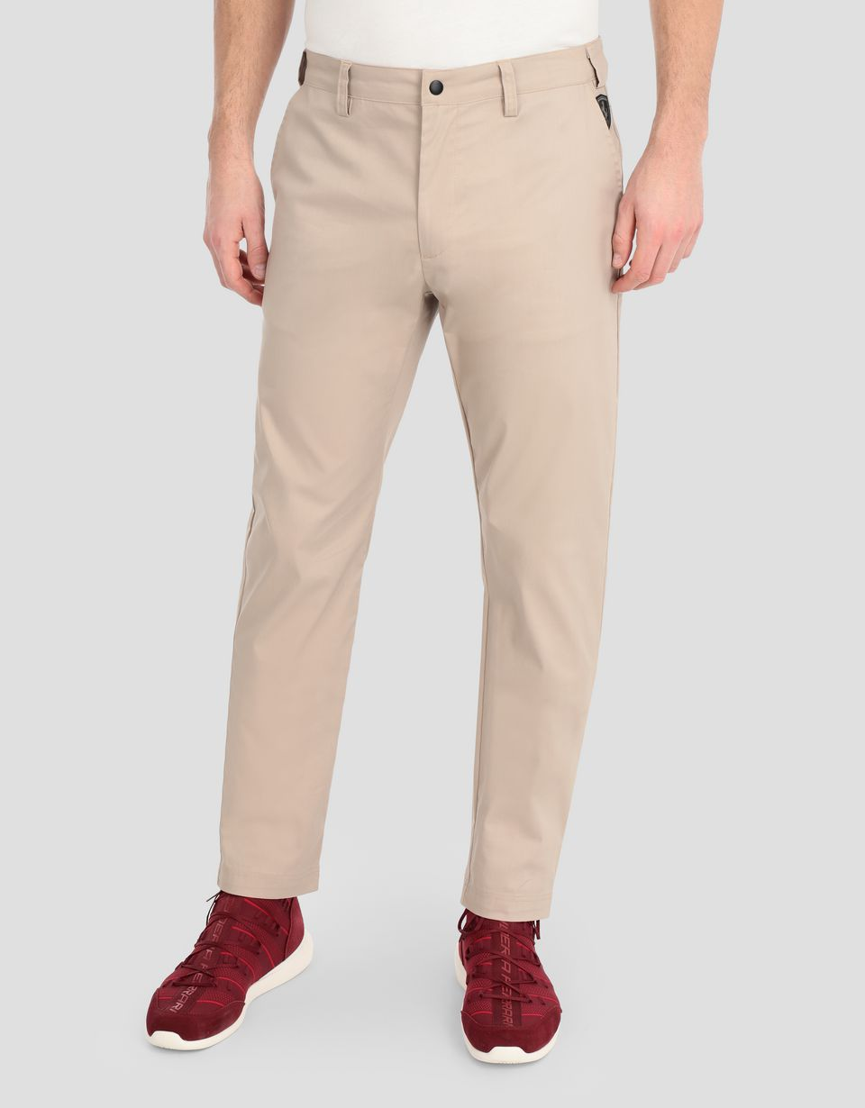 Scuderia Ferrari Online Store - Men's slim-fit chinos -