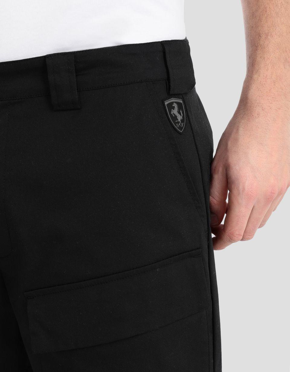 Scuderia Ferrari Online Store - Men's stretch twill bermudas - Shorts