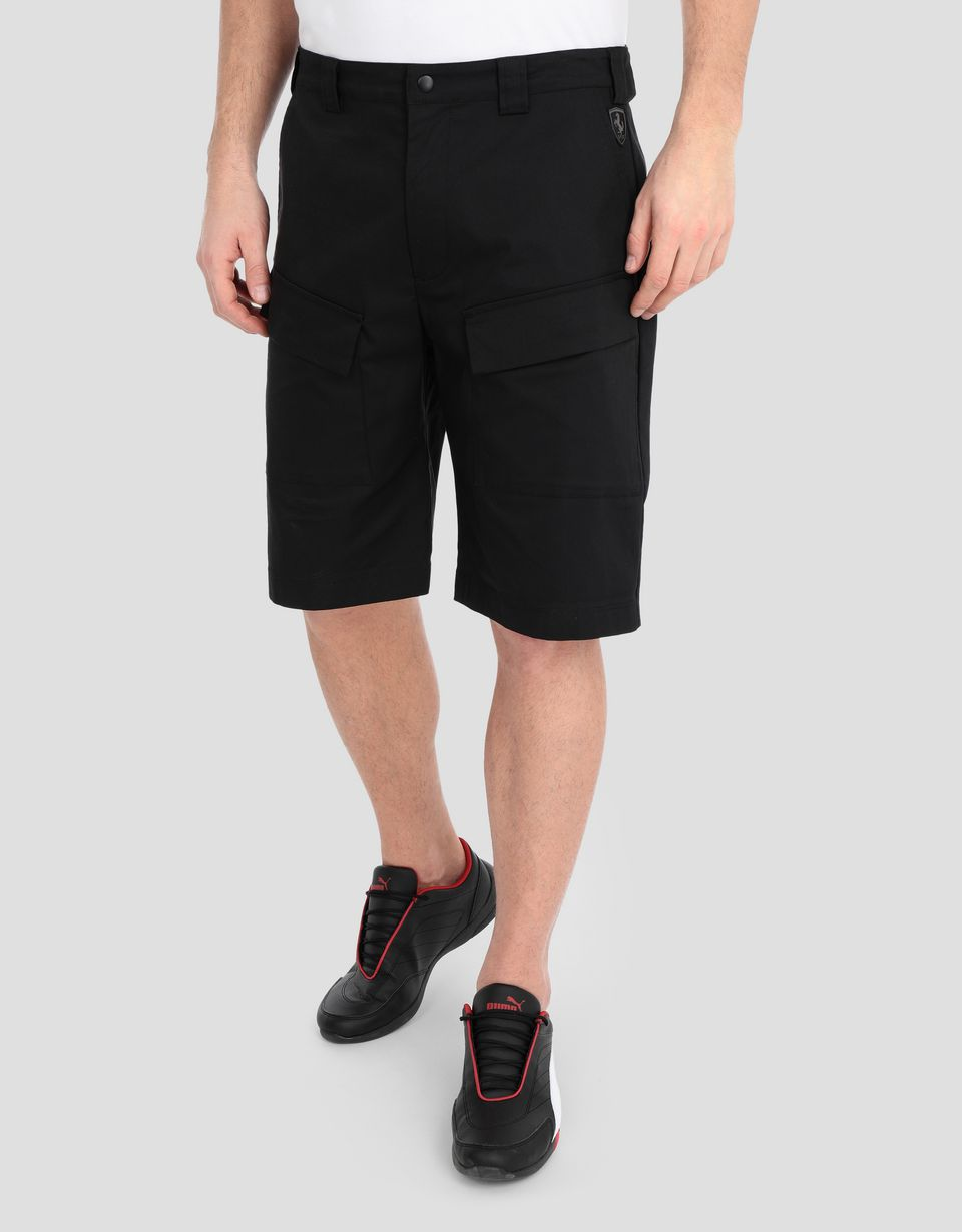 Scuderia Ferrari Online Store - Men's bermudas in stretch twill - Shorts