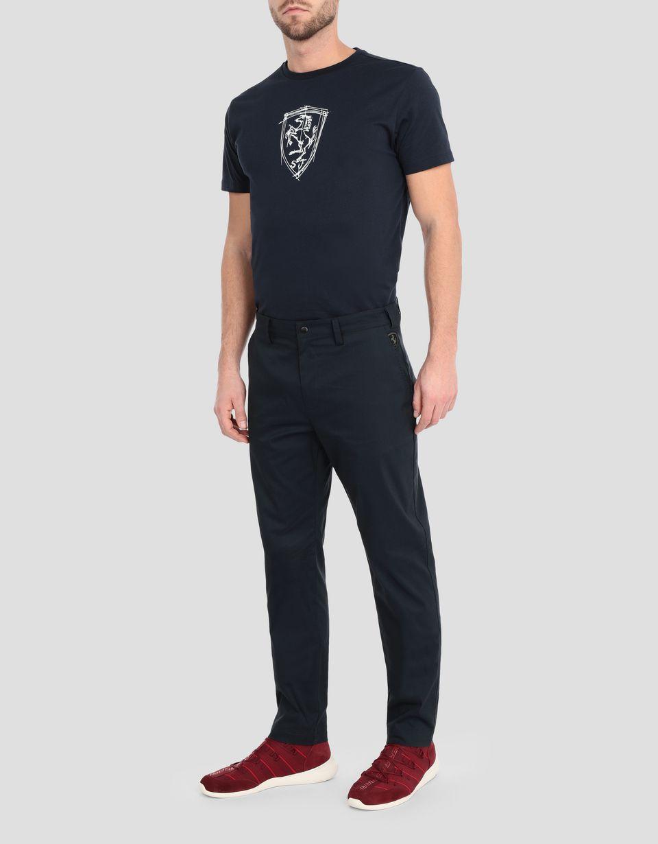 Scuderia Ferrari Online Store - Men's slim-fit chinos - Chinos