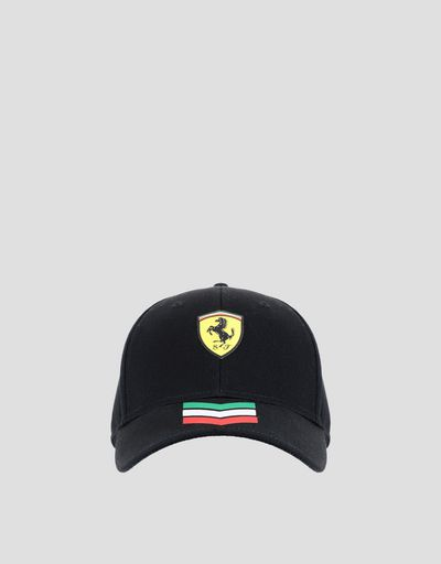 Cap with three-colour arrows and Ferrari Shield