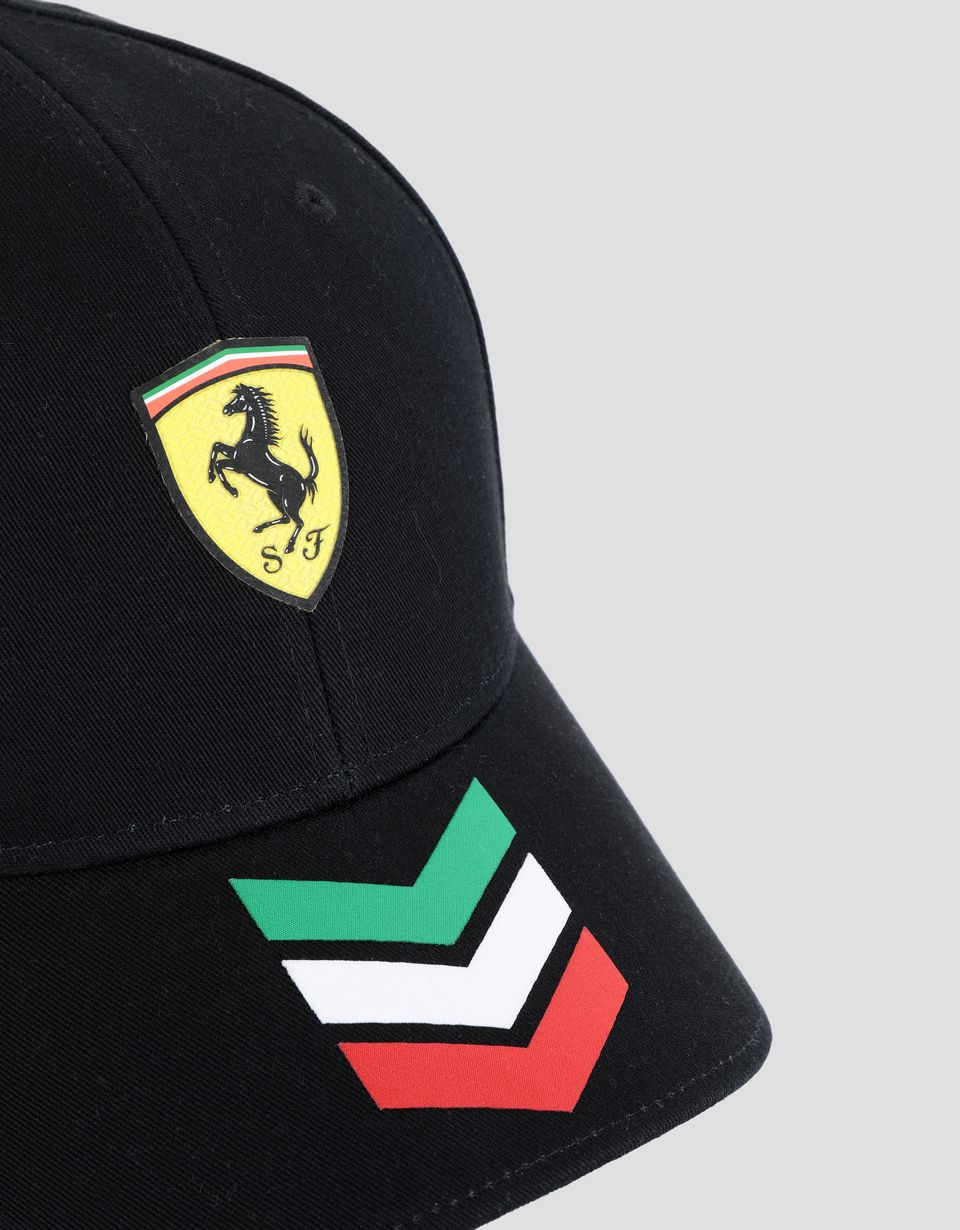 Scuderia Ferrari Online Store - Ferrari Shield hat with Italian flag arrows - Baseball Caps