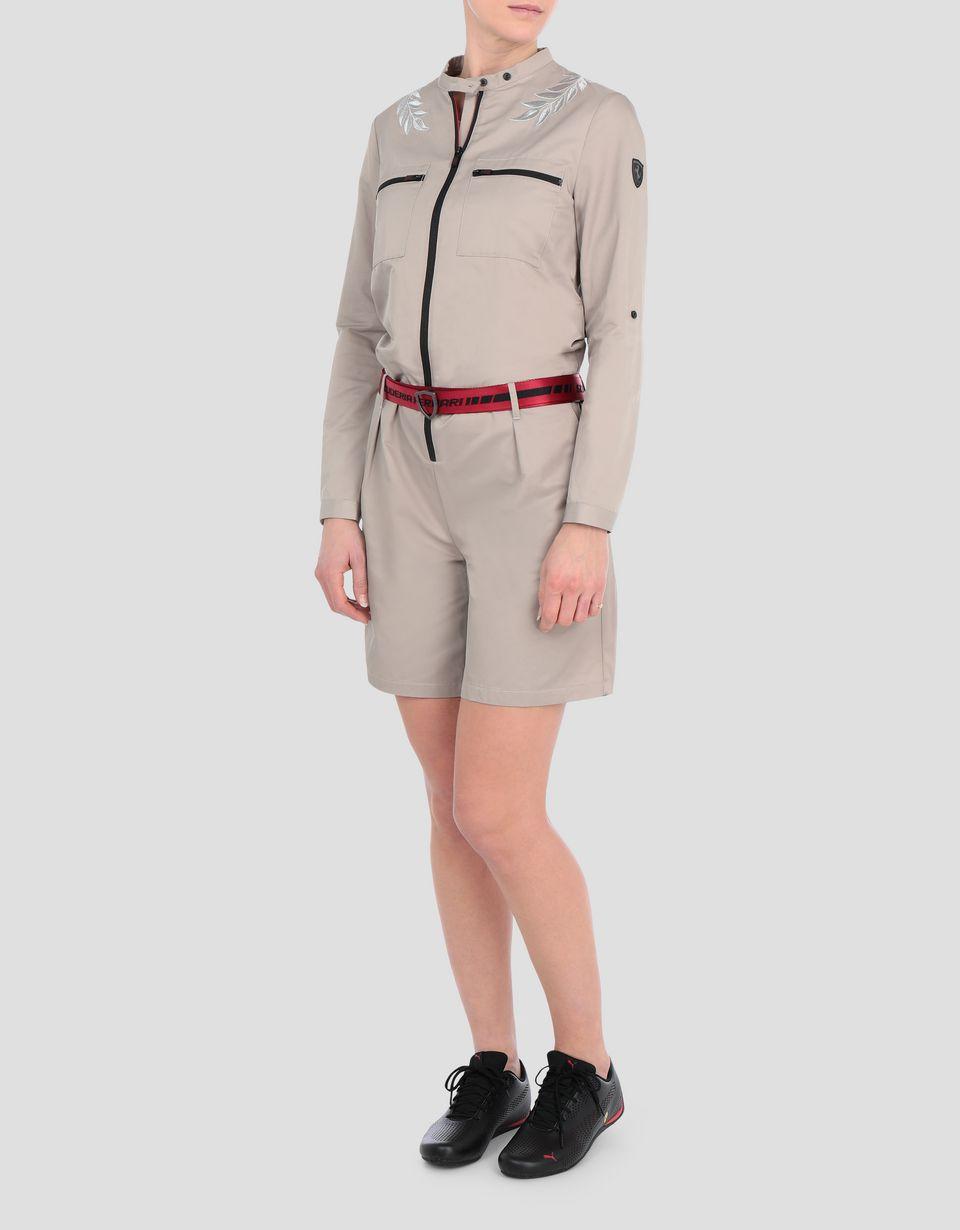 Scuderia Ferrari Online Store - Women's Scuderia Ferrari jumpsuit with laurel embroidery - Jumpsuits