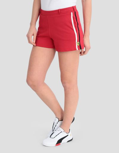Women's French terry shorts with contrasting stripes