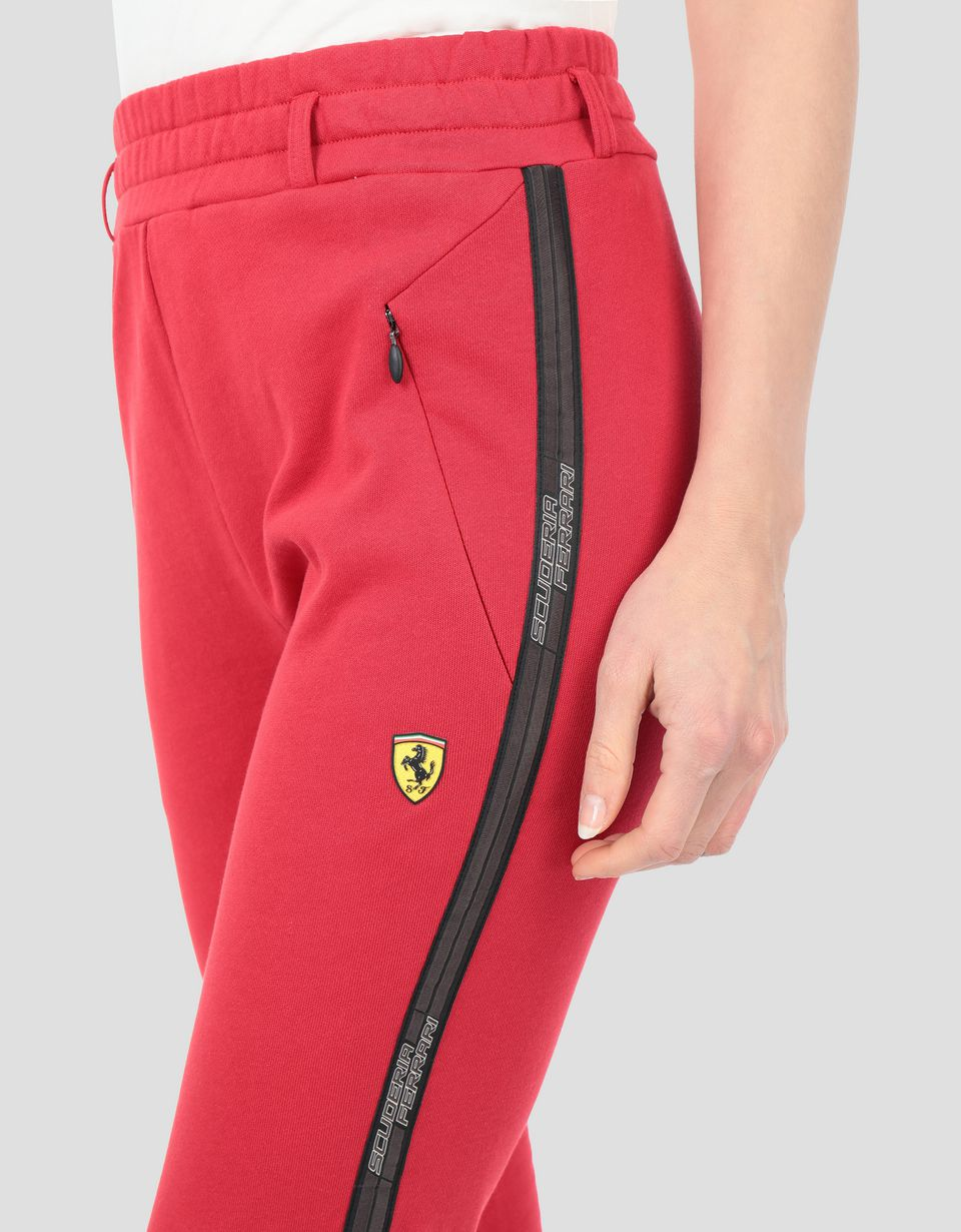 Scuderia Ferrari Online Store - Women's French terry joggers with Icon Tape -