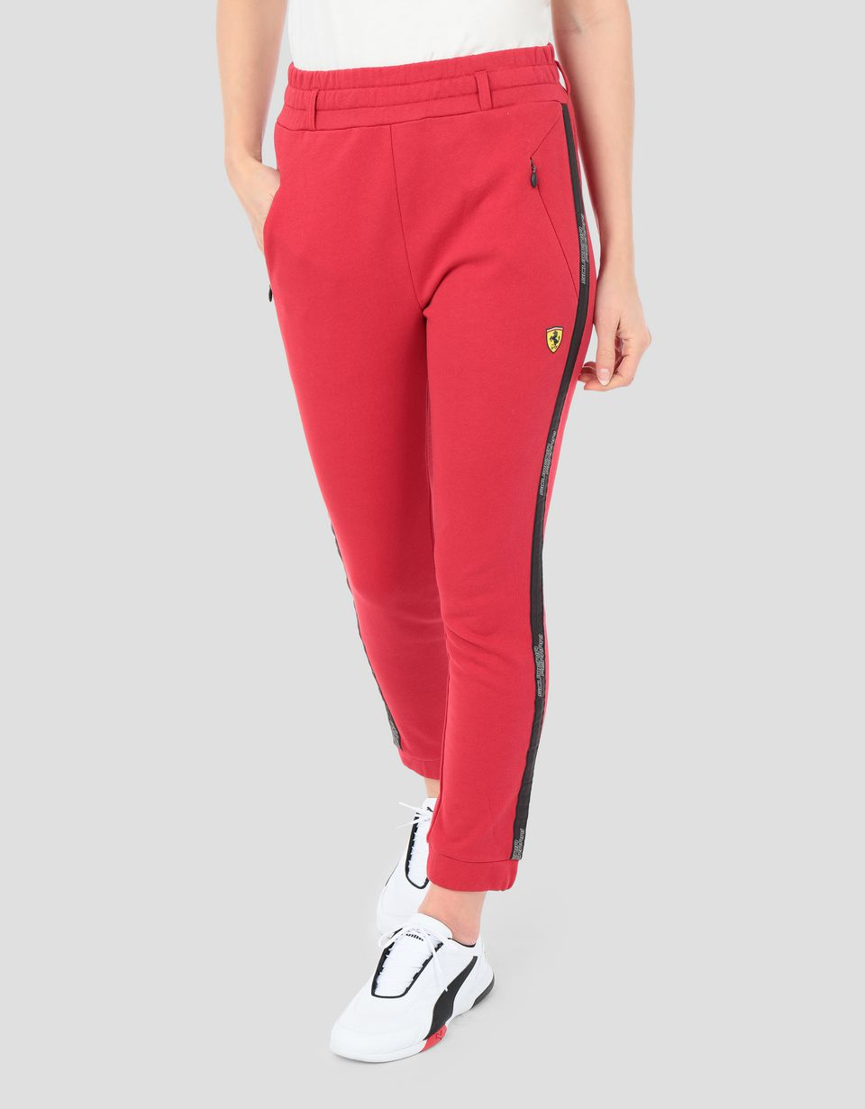 Scuderia Ferrari Online Store - Women's French terry joggers with Icon Tape - Joggers