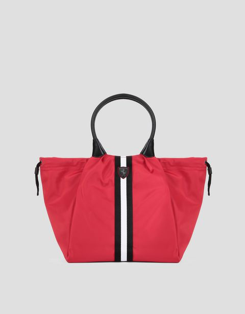 Women's bag with double drawstring