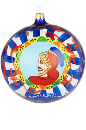 DOLCE & GABBANA Painted glass bauble