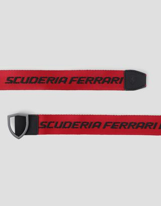 Scuderia Ferrari Online Store - Everywhere Red tape belt - Regular Belts