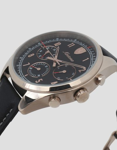 Abetone multifunctional watch with black dial