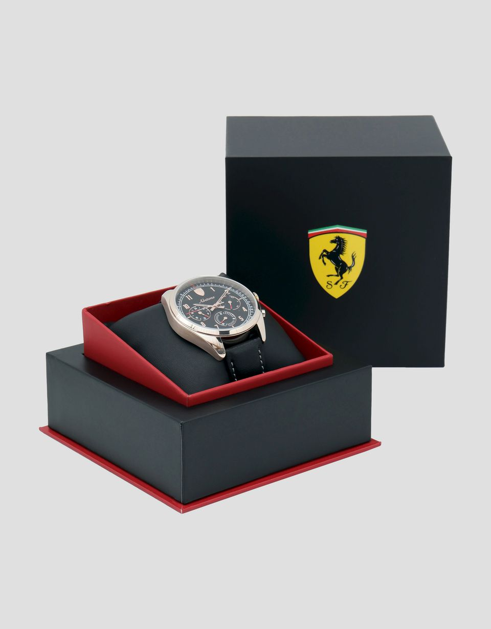 Scuderia Ferrari Online Store - Abetone multifunctional watch with black dial - Quartz Multifunctional Watch