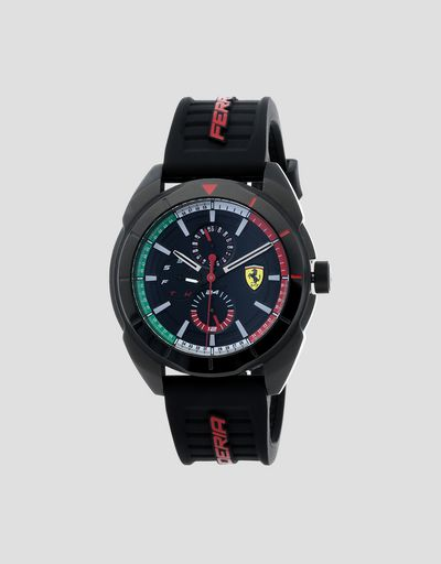 Multifunctional Forza watch with tricolour detailing