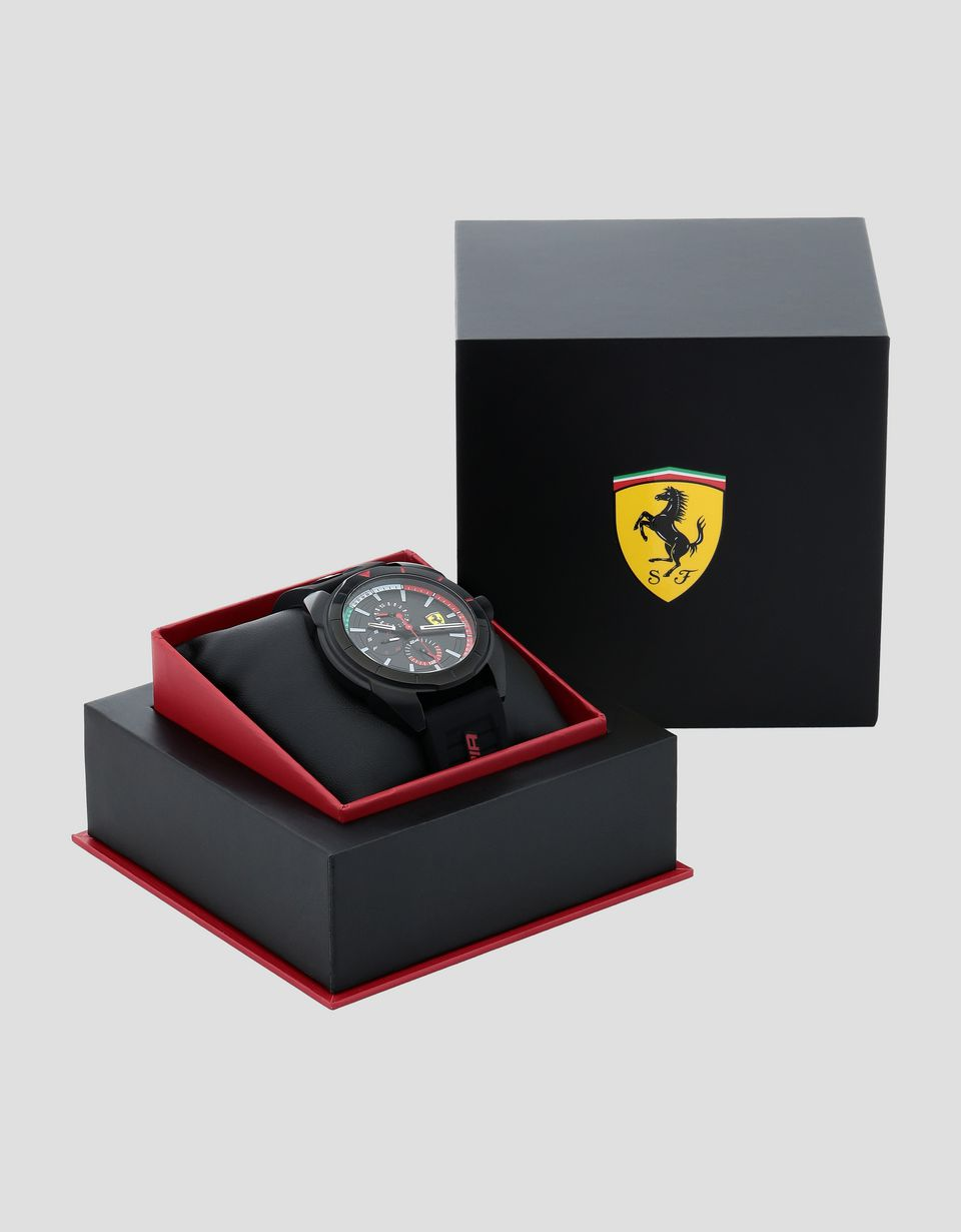 Scuderia Ferrari Online Store - Multifunctional Forza watch with tricolour detailing - Quartz Multifunctional Watch