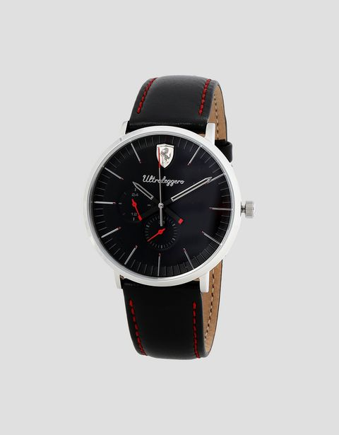 Ultraleggero multifunction watch with leather wrist strap