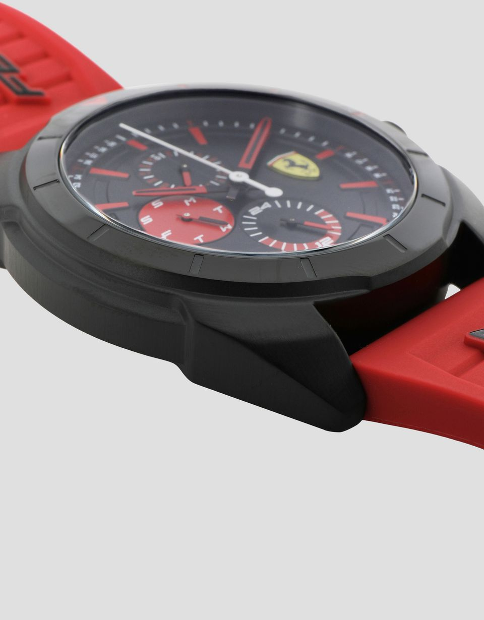 Scuderia Ferrari Online Store - Multifunction Forza watch with red details - Quartz Multifunctional Watch