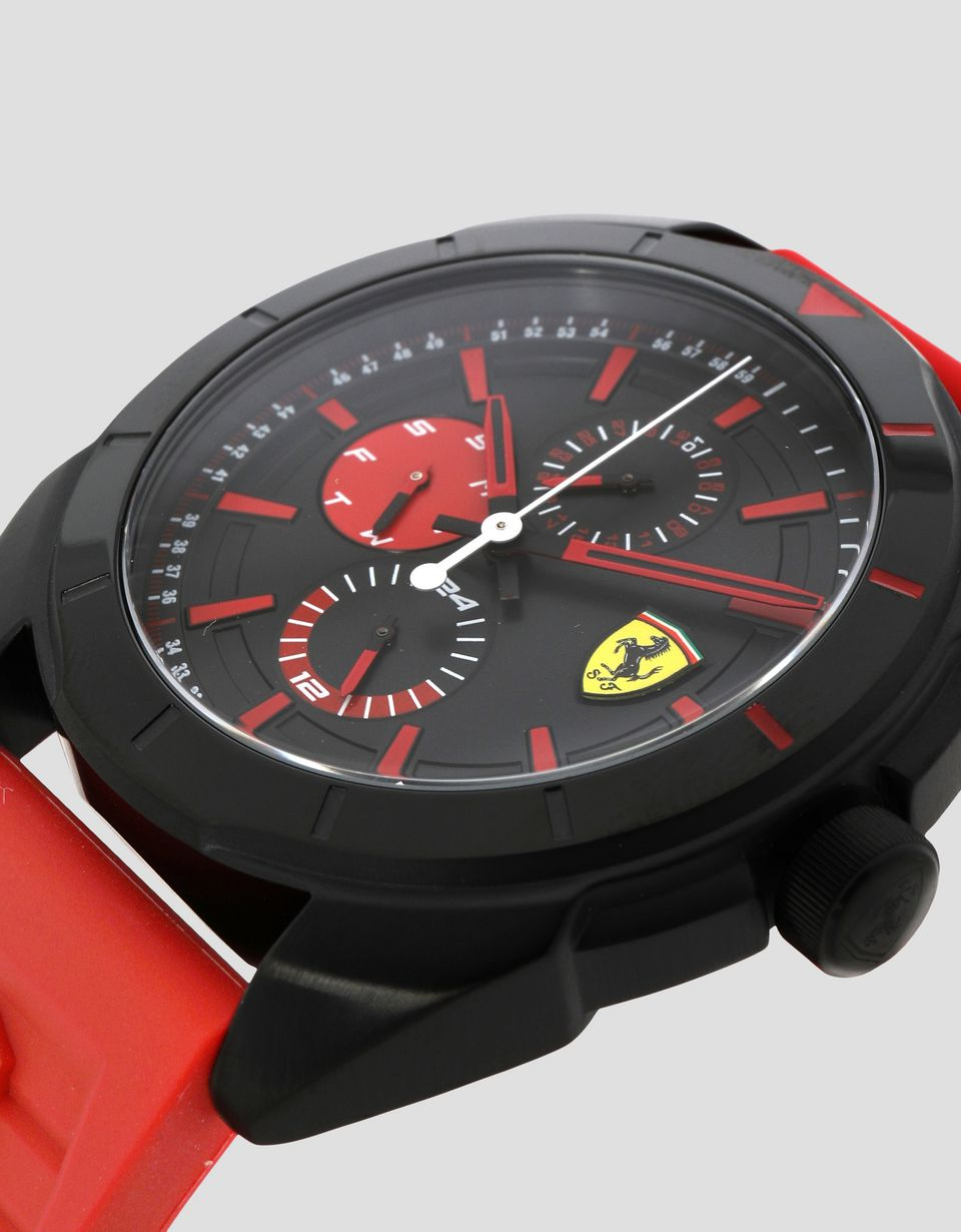 Scuderia Ferrari Online Store - Multifunctional Forza watch with red detailing - Quartz Multifunctional Watch