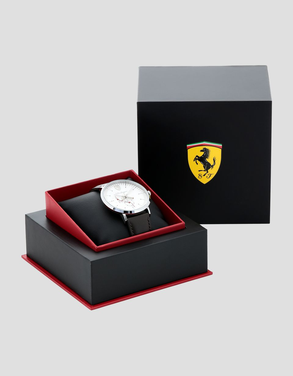 Scuderia Ferrari Online Store - Multifunktionsuhr Ultraleggero mit weißem Zifferblatt - Quartz Multifunctional Watch