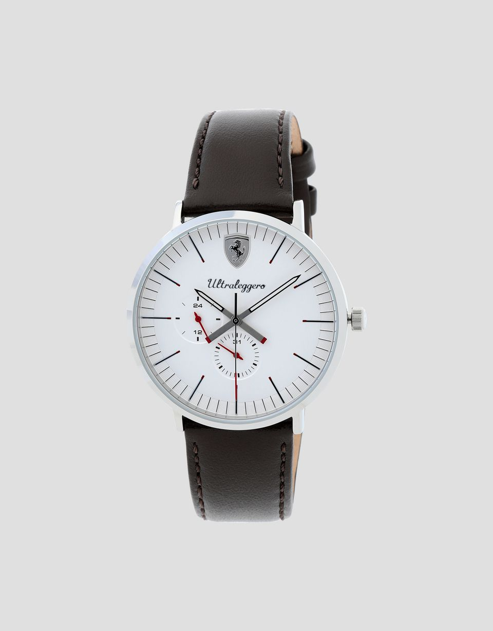 Scuderia Ferrari Online Store - Montre multifonction Ultraleggero avec cadran blanc - Quartz Multifunctional Watch