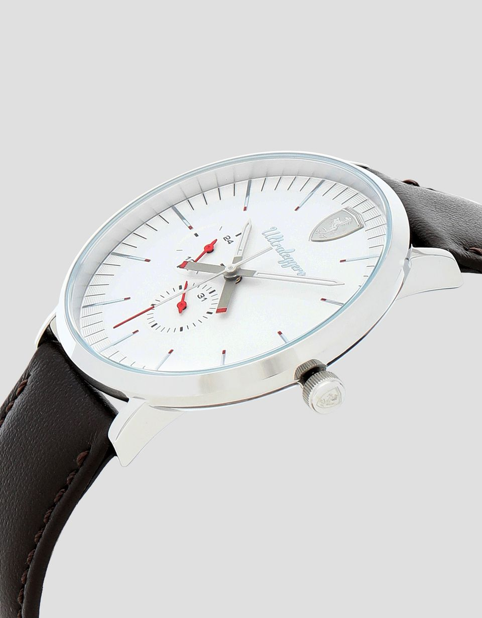 Scuderia Ferrari Online Store - Ultraleggero multifunctional watch with white dial - Quartz Multifunctional Watch