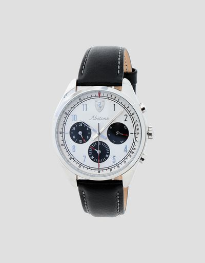 Abetone multifunctional watch with white dial