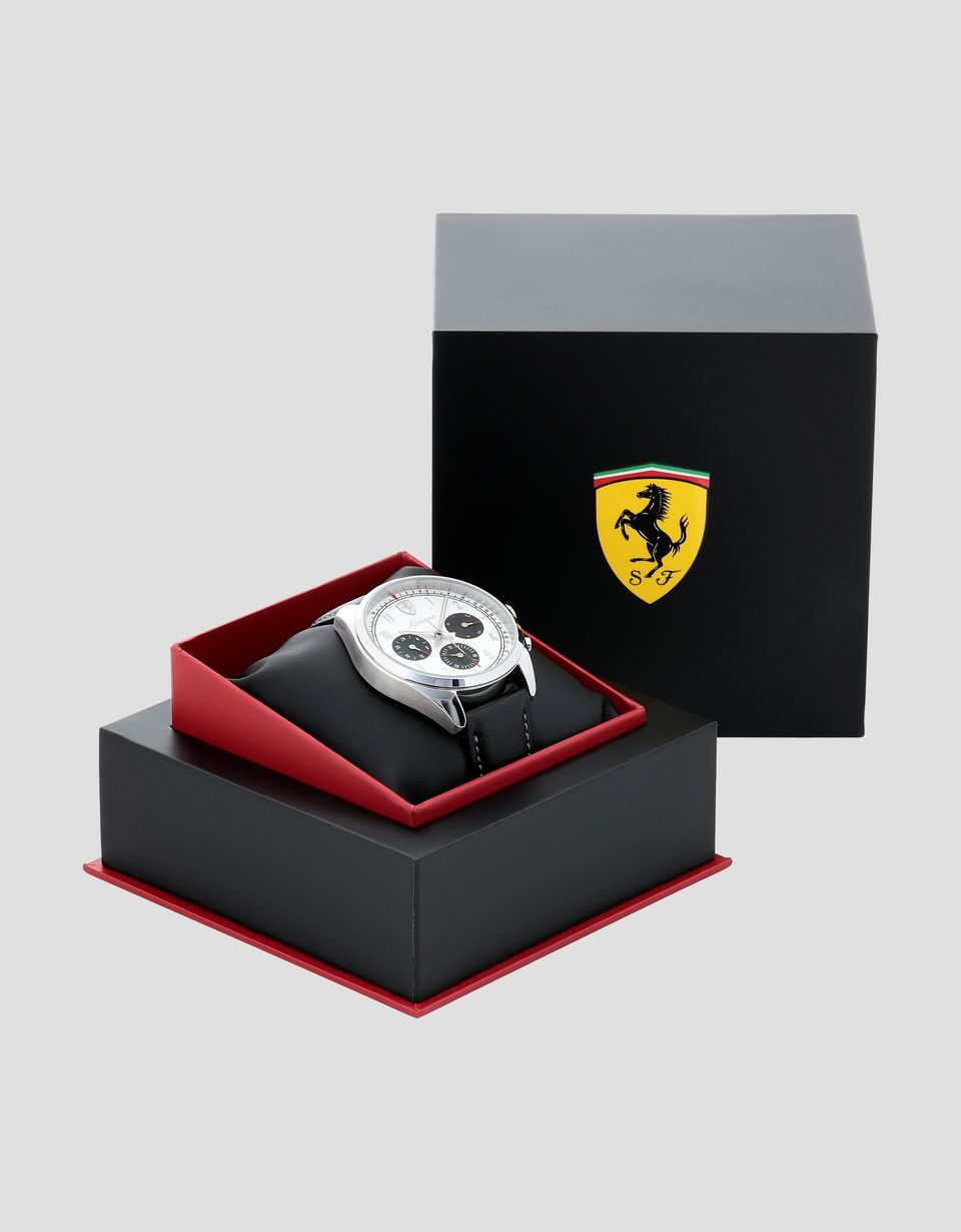 Scuderia Ferrari Online Store - Abetone multifunction watch with white dial - Quartz Multifunctional Watch