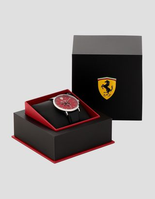 Scuderia Ferrari Online Store - Ultraleggero multifunction watch with red dial - Quartz Multifunctional Watch