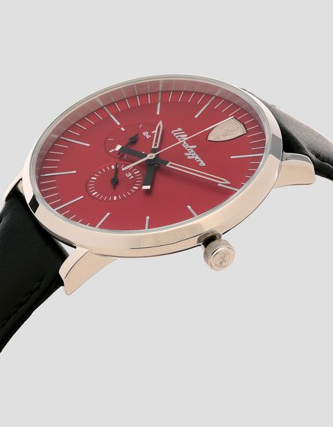 Ultraleggero multifunction watch with red dial