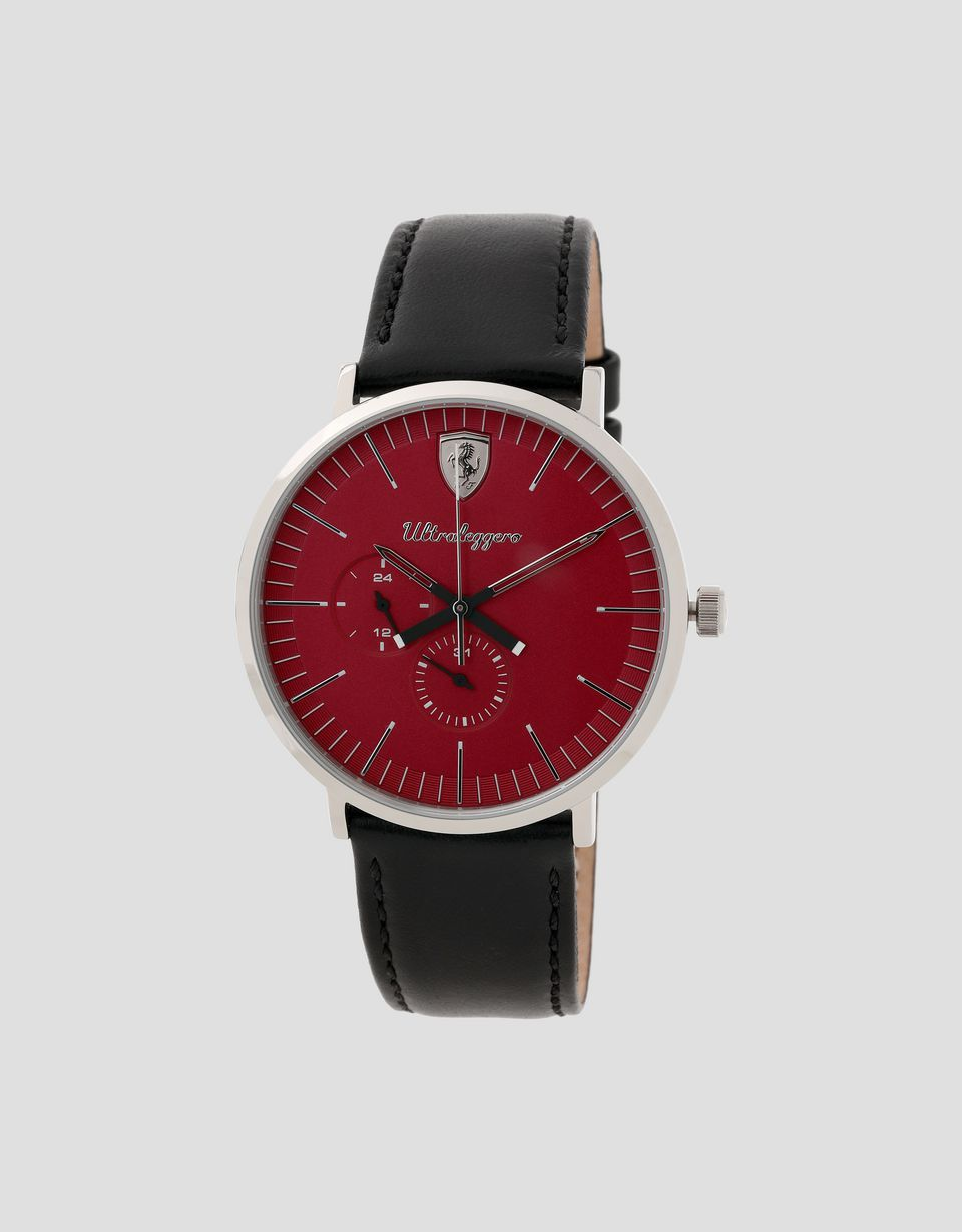 Scuderia Ferrari Online Store - Multifunktionsuhr Ultraleggero mit rotem Zifferblatt - Quartz Multifunctional Watch