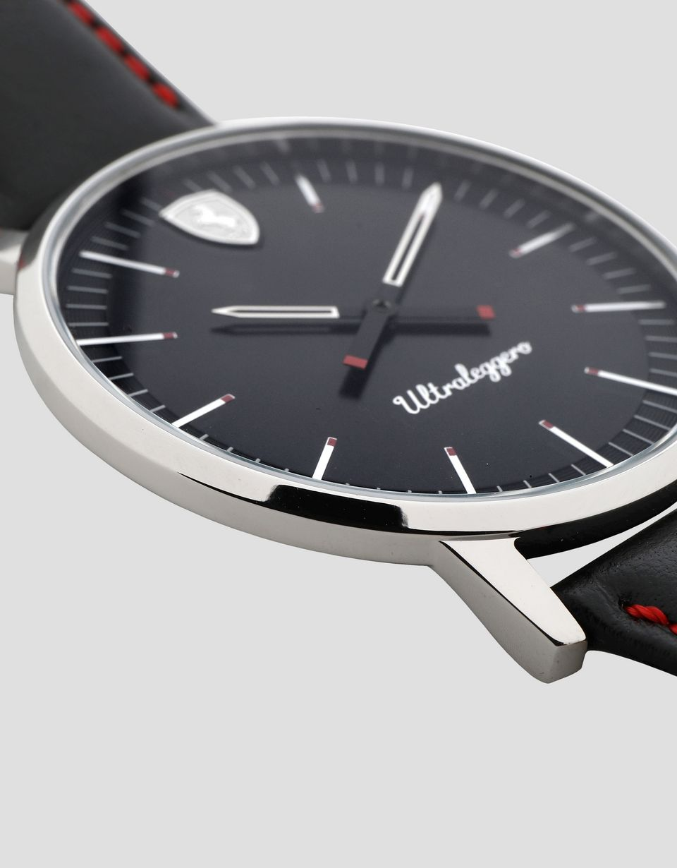 Scuderia Ferrari Online Store - Ultraleggero watch with black dial - Quartz Watches