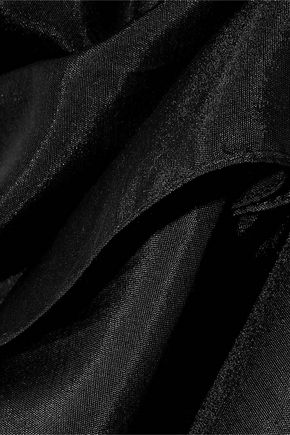 DOLCE & GABBANA Frayed cotton and silk-blend poplin scarf