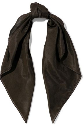DOLCE & GABBANA Cotton and silk-blend scarf
