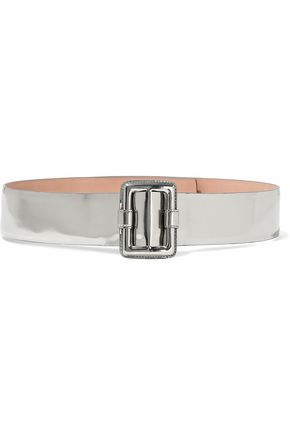 ALAÏA Mirrored-leather belt