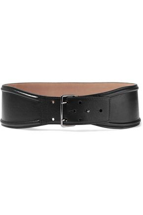 ALAÏA Textured-leather belt