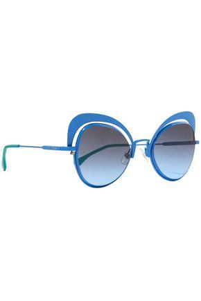 FENDI Cat-eye metal sunglasses